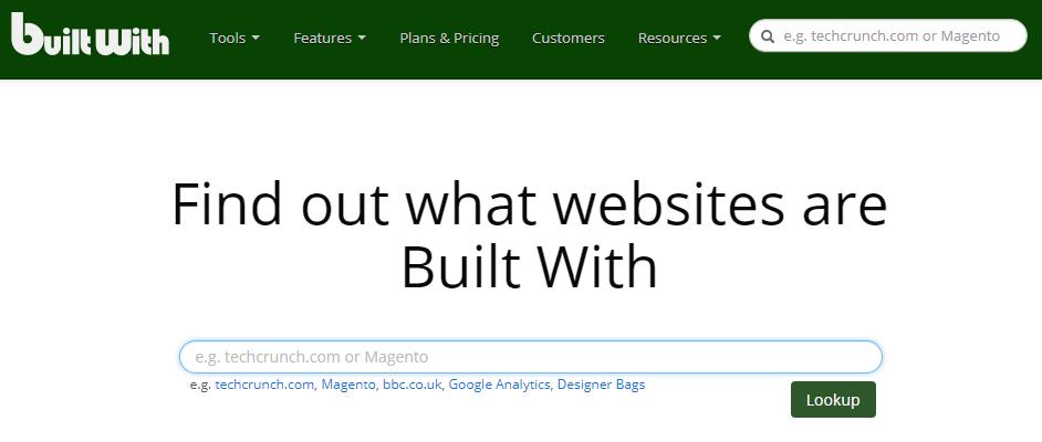 查詢網站架設所使用的技術,builtwith線上工具!