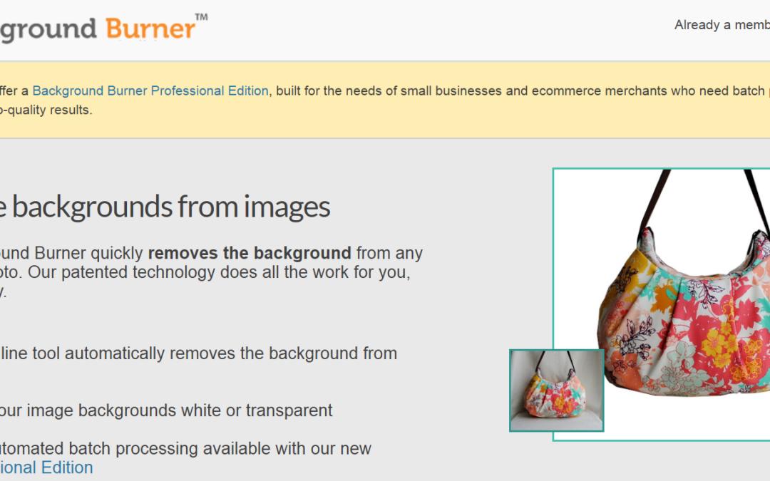 Background Burner線上去背工具,快速「全自動」去除相片、圖片背景