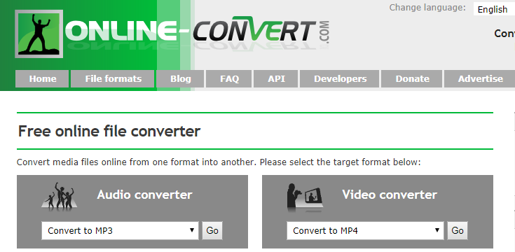 Online Convert免費線上轉檔工具,音樂、影片、圖片、文件、電子書檔都可轉檔