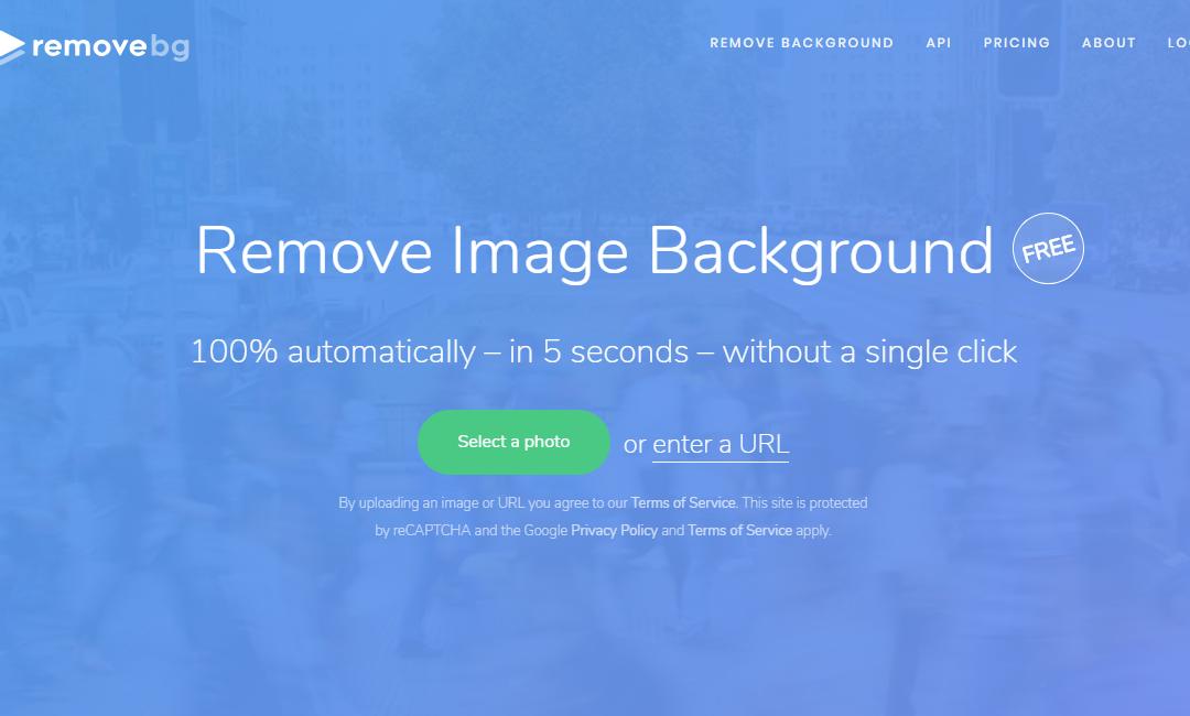 remove.bg 免費線上去背工具,上傳圖片五秒鐘自動去除背景