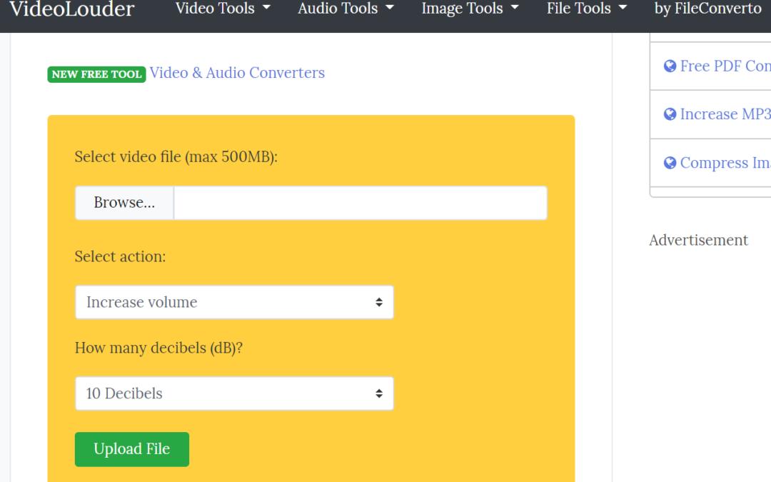 VideoLouder線上影片音量調整工具,來修改視頻的分貝大小吧