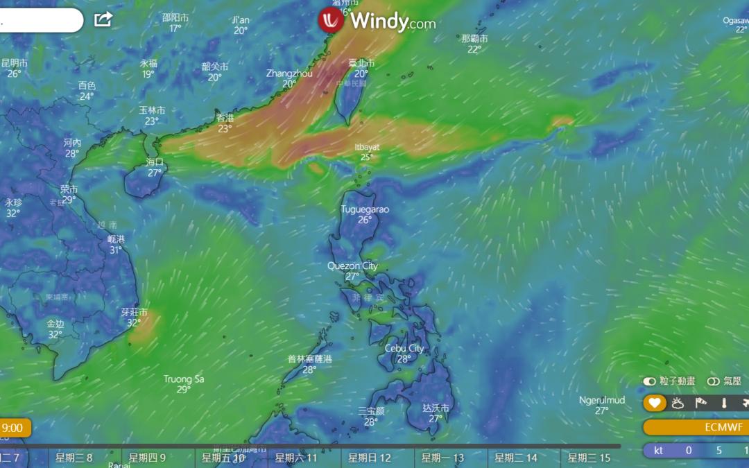 Windyty 即時動態氣象預報,出遊簡單查詢天氣變化(溫度、降雨機率等等…)