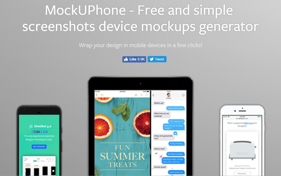 MockUPhone 在各種裝置螢幕上嵌入產品圖片,支援手機、平板、電腦、電視